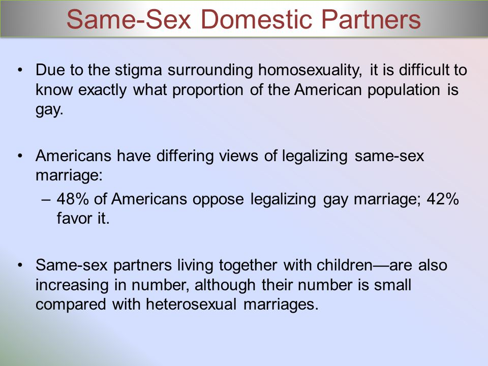 Same-Sex Domestic Partners