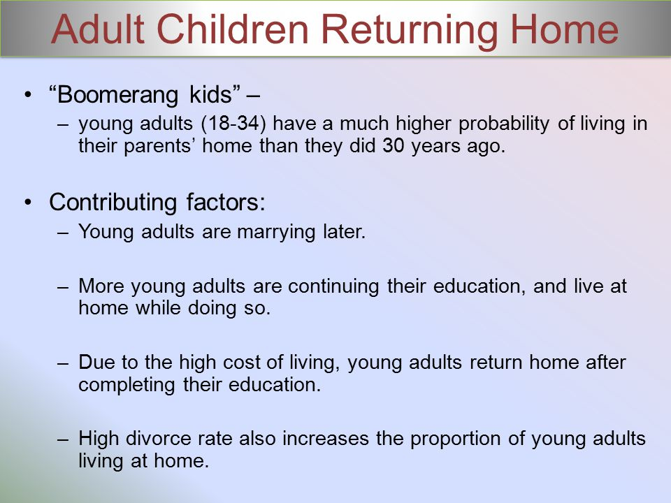 Adult Children Returning Home