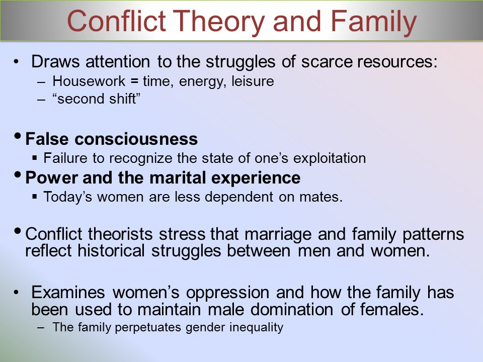 Conflict Theory and Family
