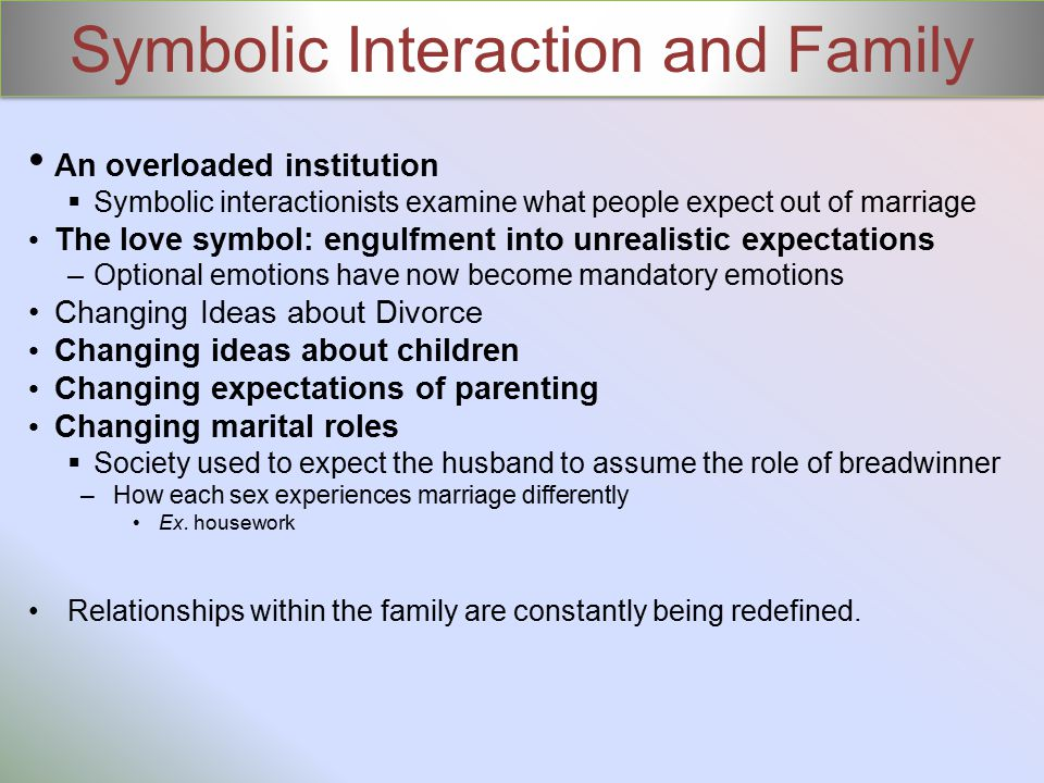 Symbolic Interaction and Family
