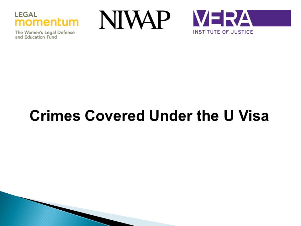 Crimes Covered Under the U Visa