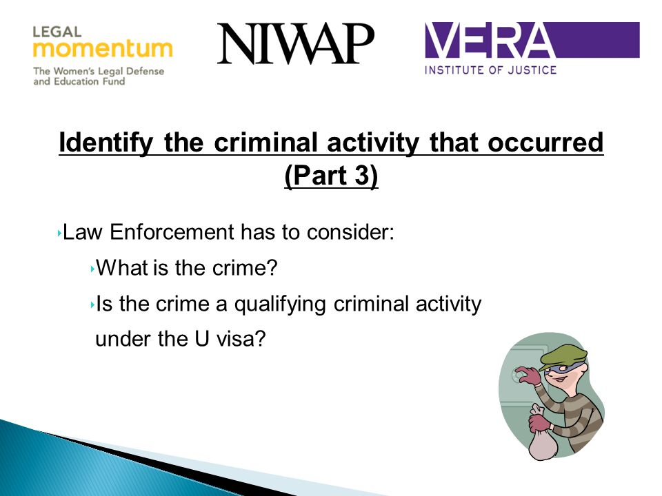 Identify the criminal activity that occurred
