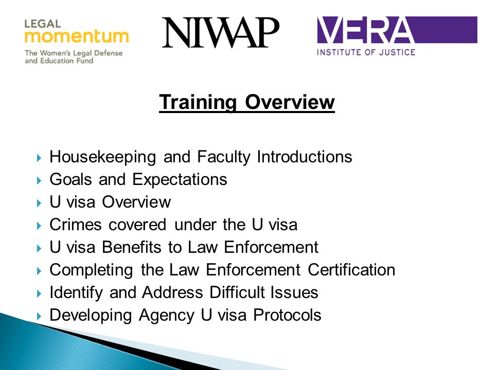 Training Overview Housekeeping and Faculty Introductions