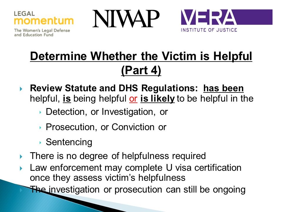 Determine Whether the Victim is Helpful (Part 4)