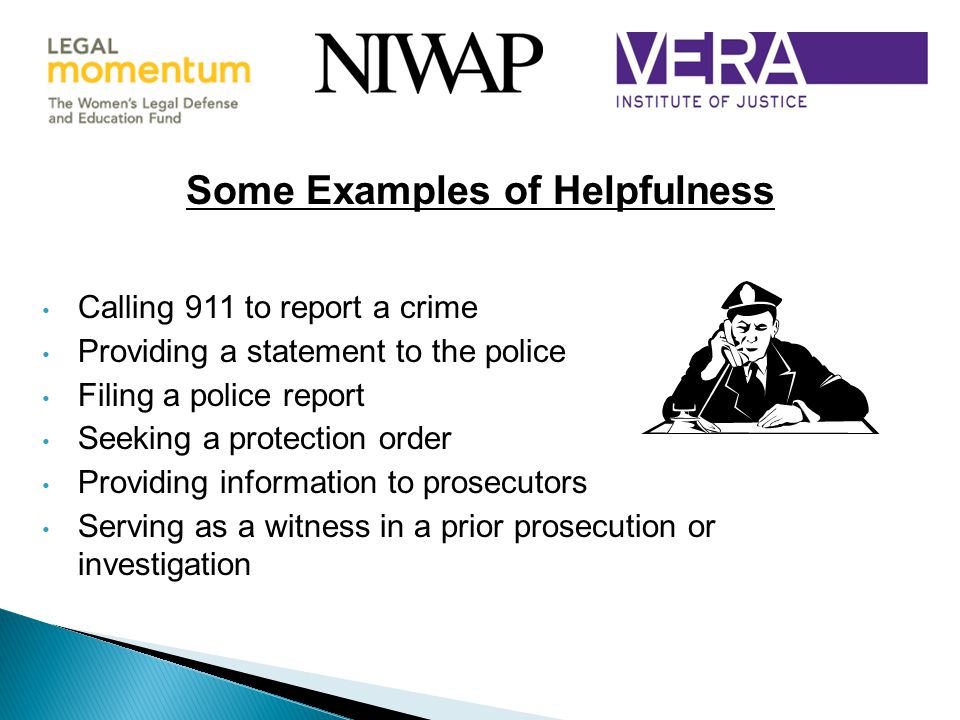 Some Examples of Helpfulness