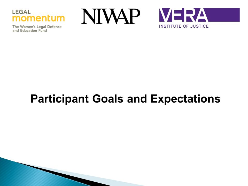 Participant Goals and Expectations
