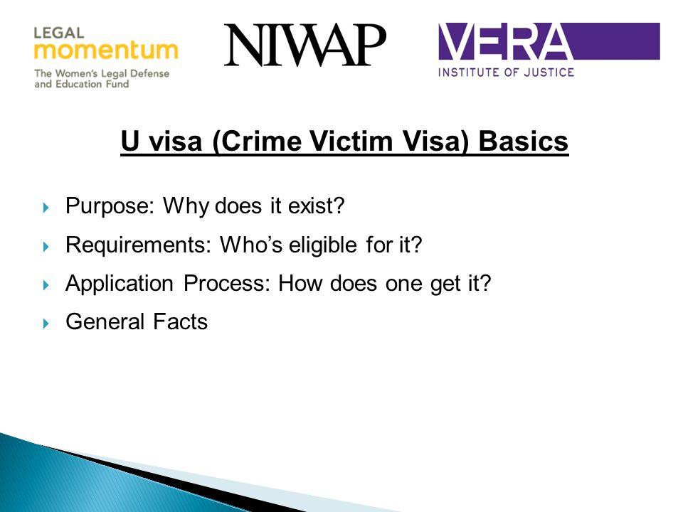 U visa (Crime Victim Visa) Basics