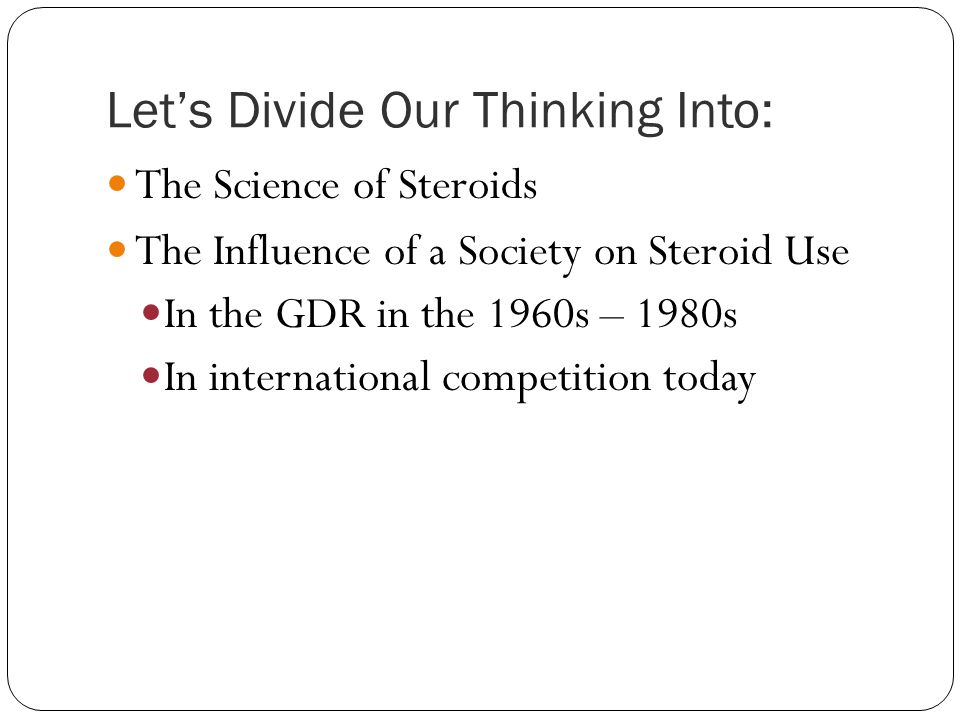 Let's Divide Our Thinking Into: