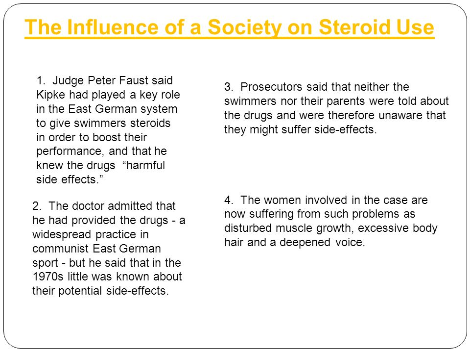 The Influence of a Society on Steroid Use