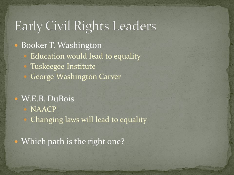 Early Civil Rights Leaders