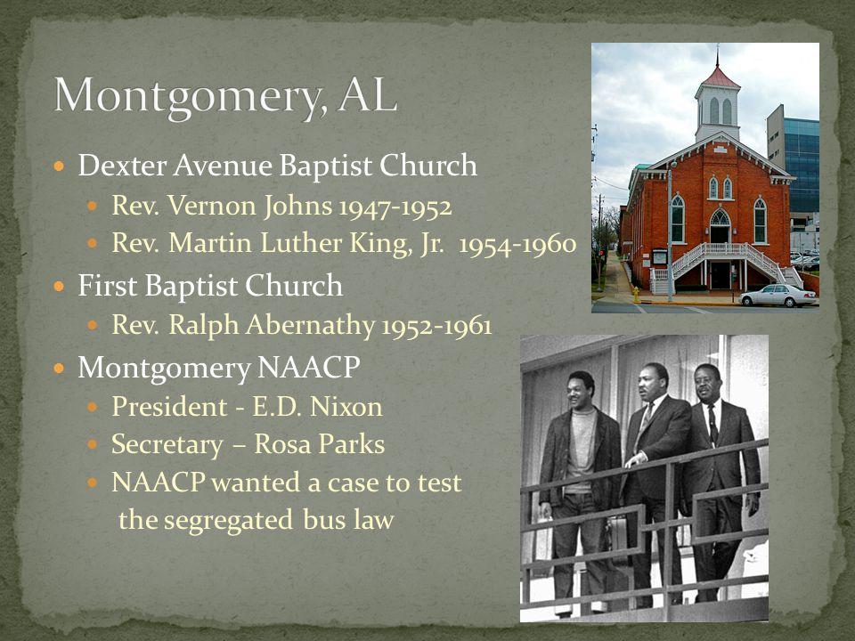 Montgomery, AL Dexter Avenue Baptist Church First Baptist Church