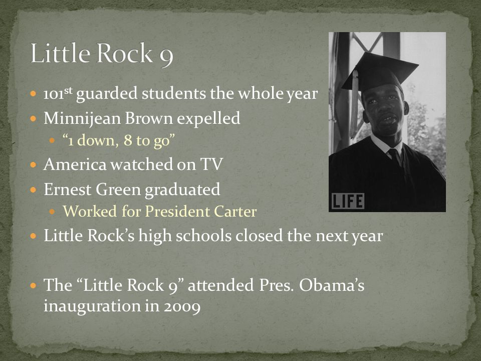 Little Rock 9 101st guarded students the whole year
