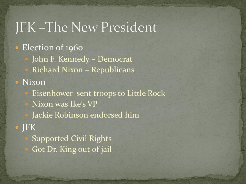 JFK –The New President Election of 1960 Nixon JFK