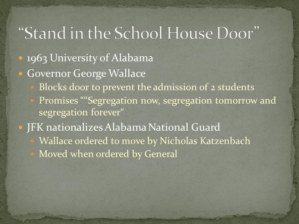 Stand in the School House Door