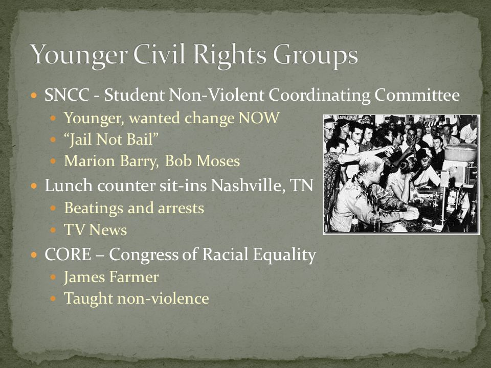 Younger Civil Rights Groups