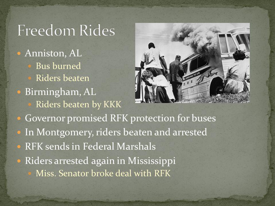 Freedom Rides Anniston, AL Birmingham, AL