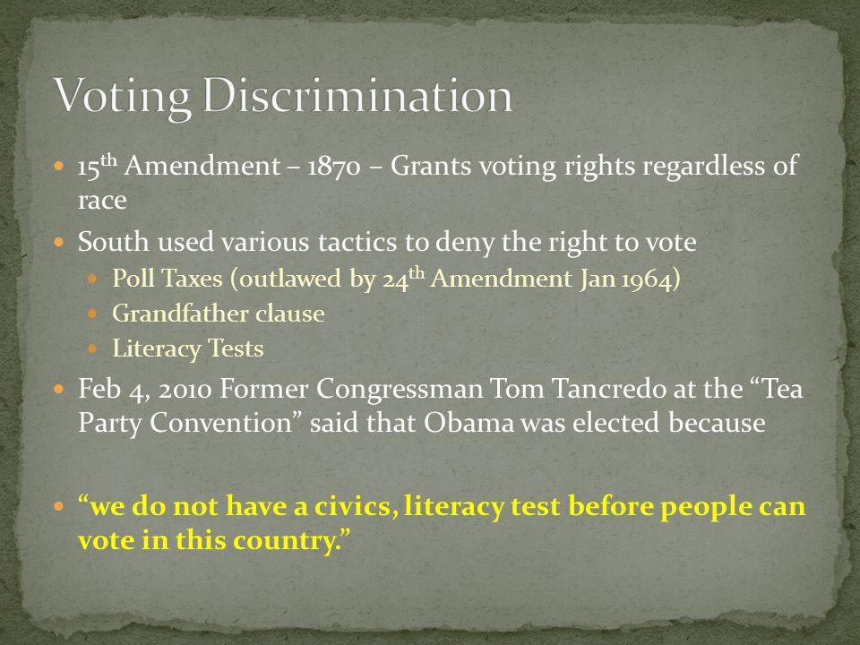 Voting Discrimination