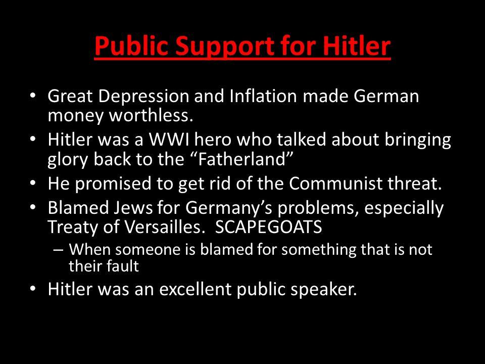 Public Support for Hitler