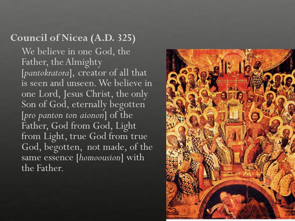 Council of Nicea (A.D.