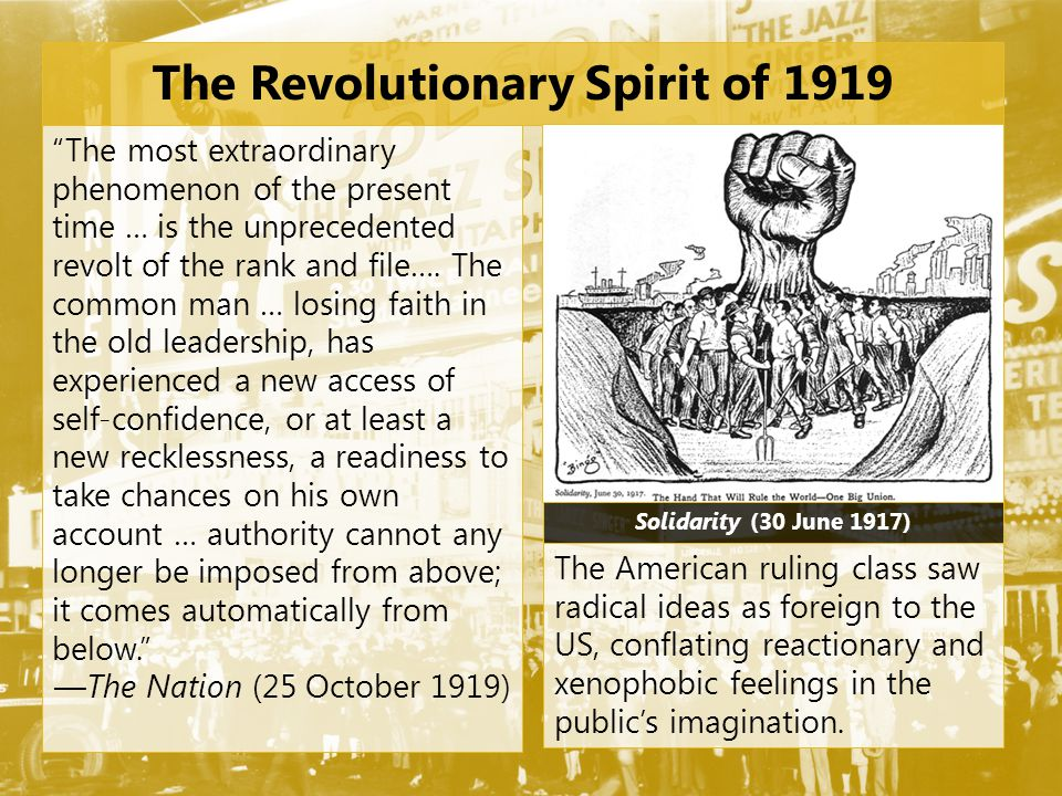 The Revolutionary Spirit of 1919