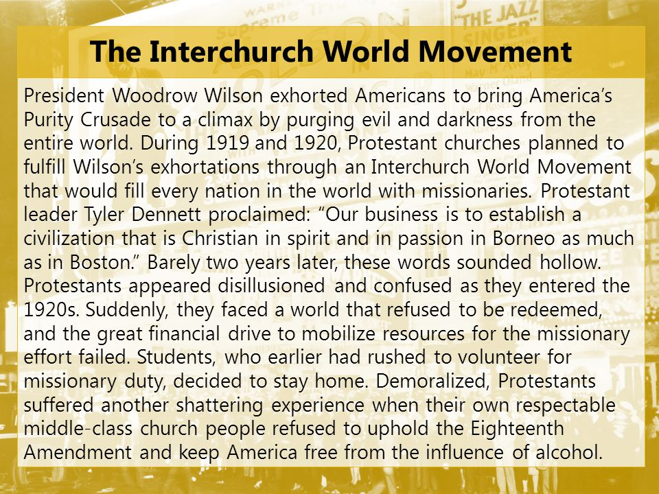 The Interchurch World Movement