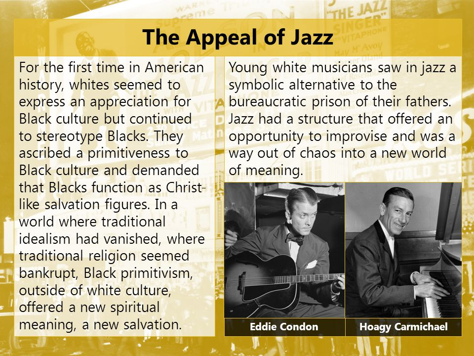 The Appeal of Jazz