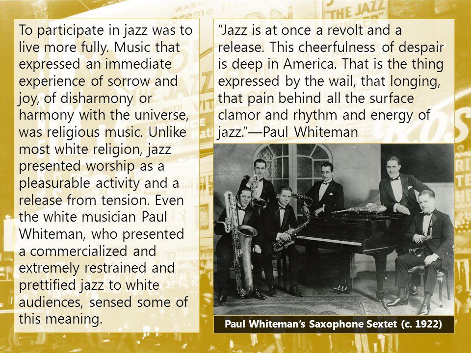 Paul Whiteman's Saxophone Sextet (c. 1922)