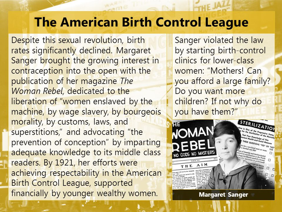 The American Birth Control League