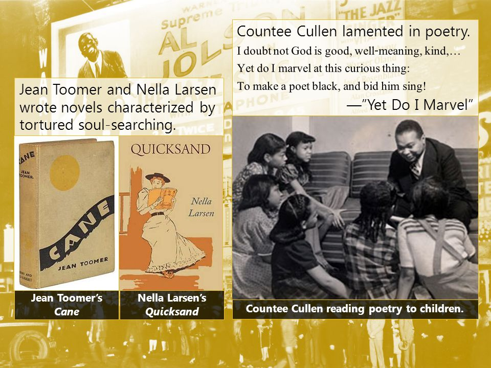Countee Cullen reading poetry to children.