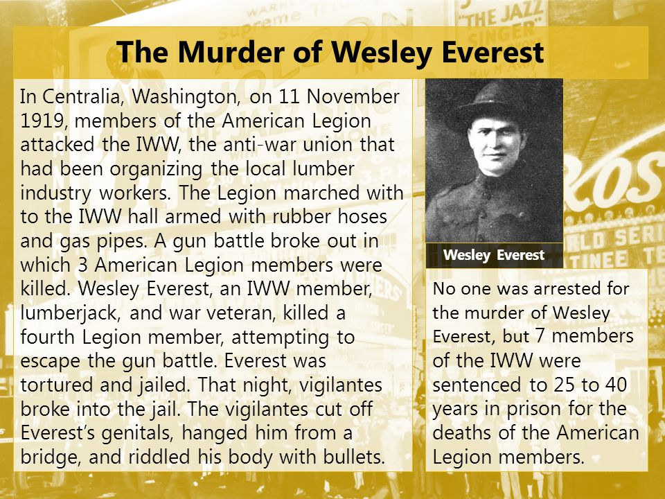 The Murder of Wesley Everest