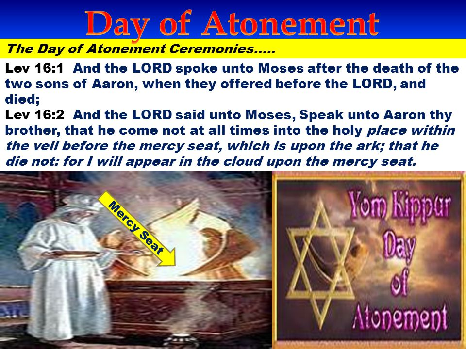 Day of Atonement The Day of Atonement Ceremonies…..