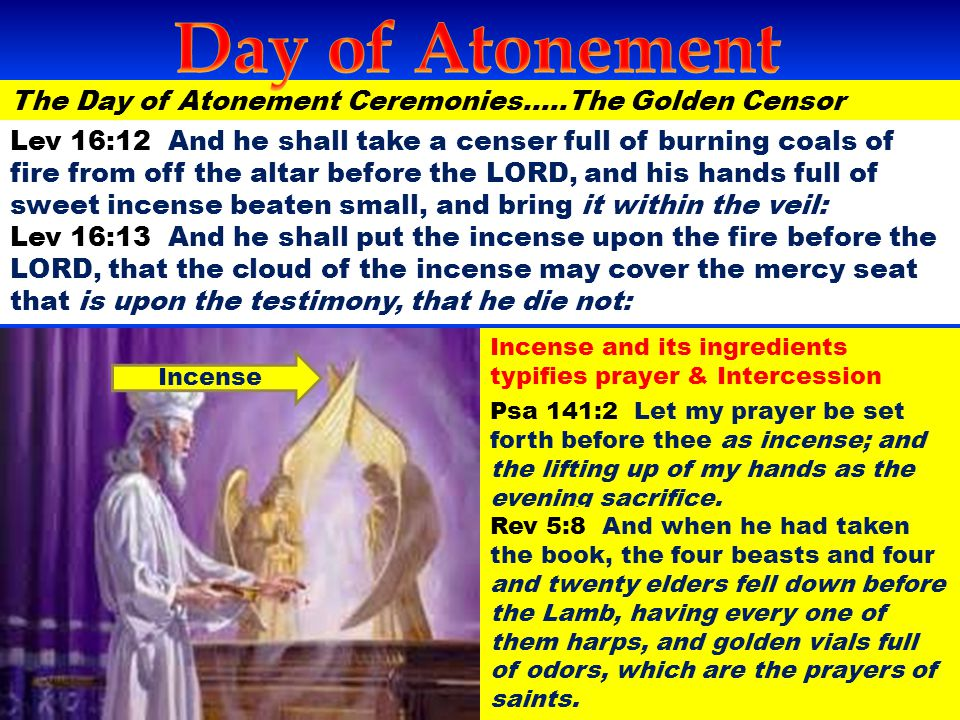 Day of Atonement The Day of Atonement Ceremonies…..The Golden Censor