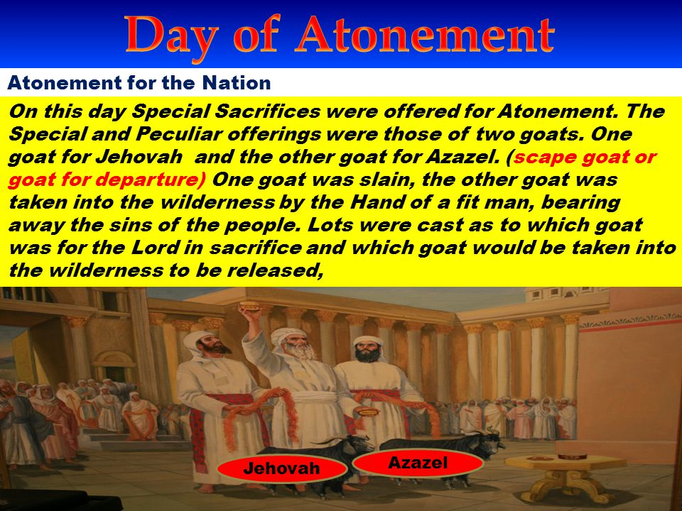 Day of Atonement Atonement for the Nation