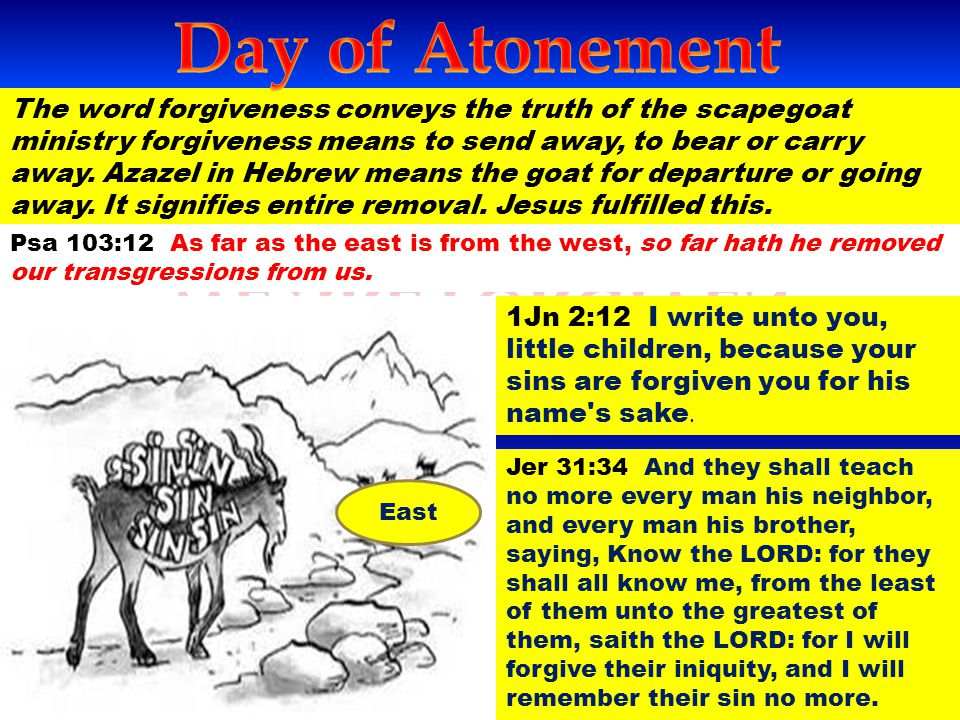 Day of Atonement WE are Forgiven