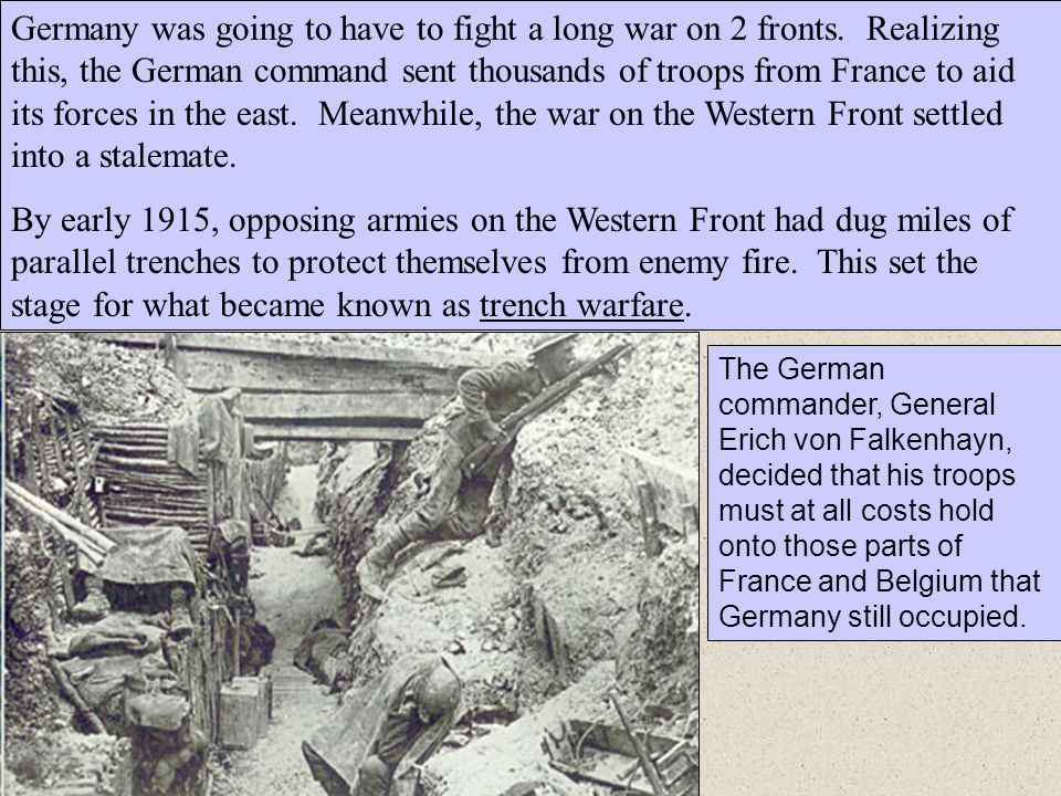 Germany was going to have to fight a long war on 2 fronts