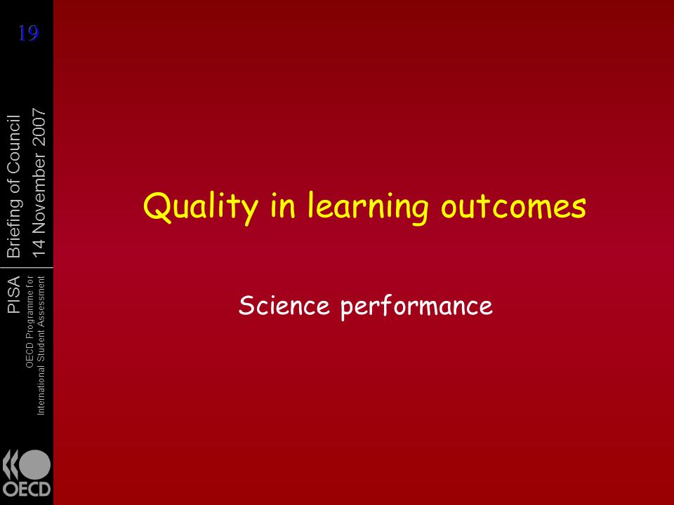 Quality in learning outcomes
