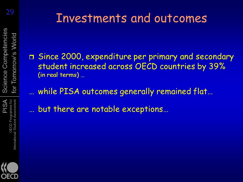 Investments and outcomes