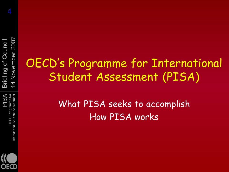 OECD's Programme for International Student Assessment (PISA)