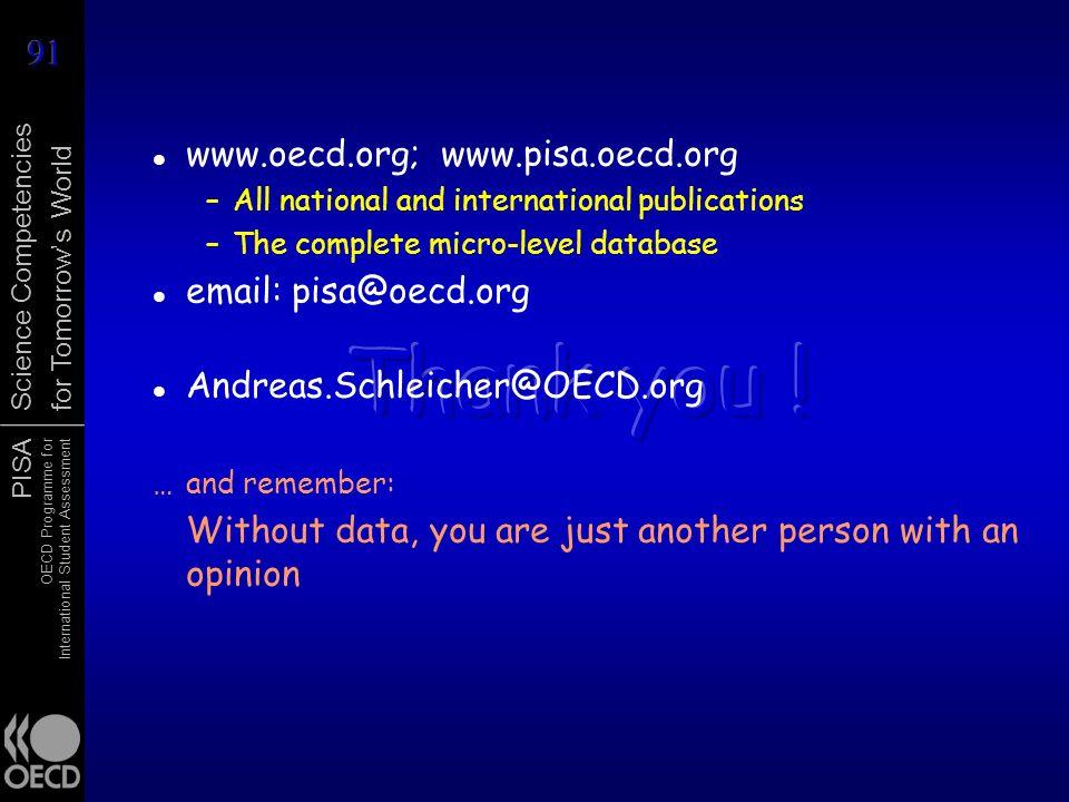 Thank you ! www.oecd.org; www.pisa.oecd.org