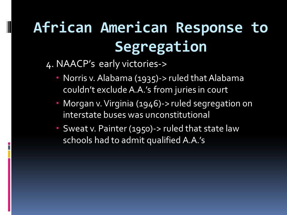 African American Response to Segregation
