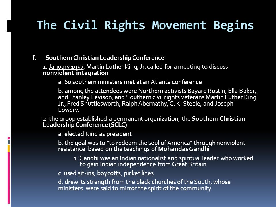 The Civil Rights Movement Begins