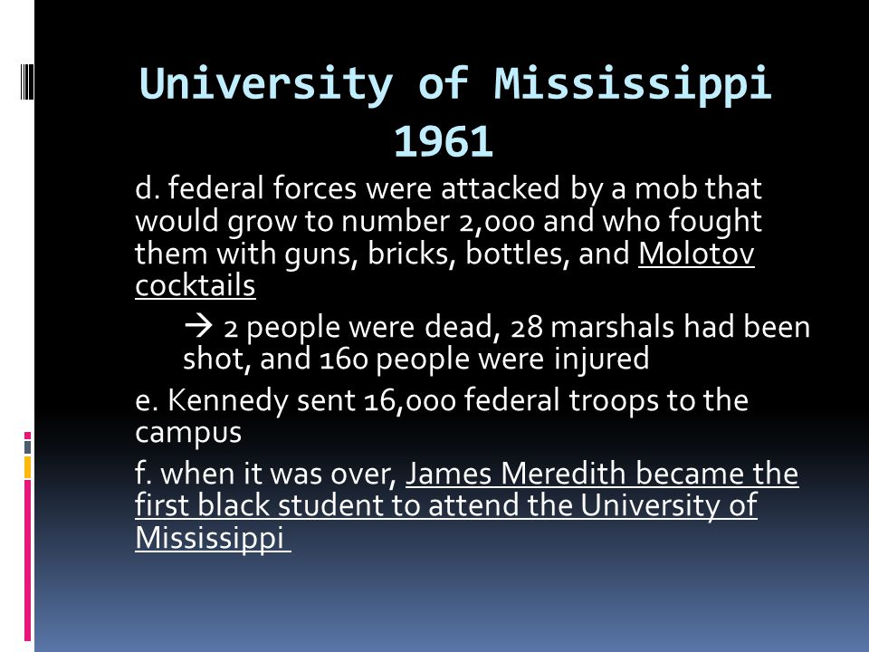 University of Mississippi 1961