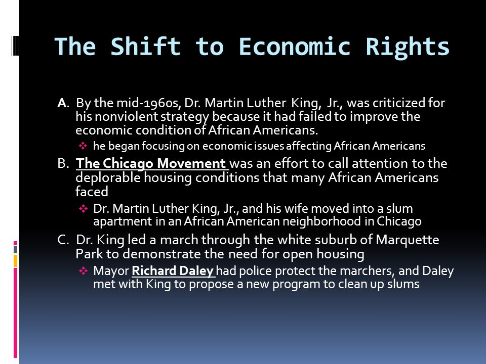 The Shift to Economic Rights