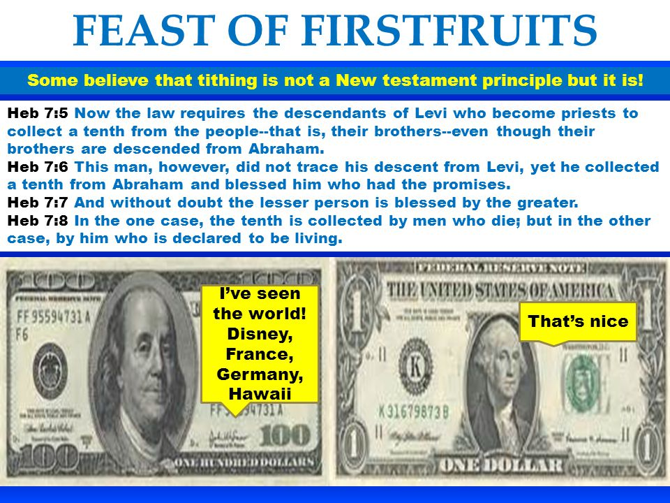 Some believe that tithing is not a New testament principle but it is!