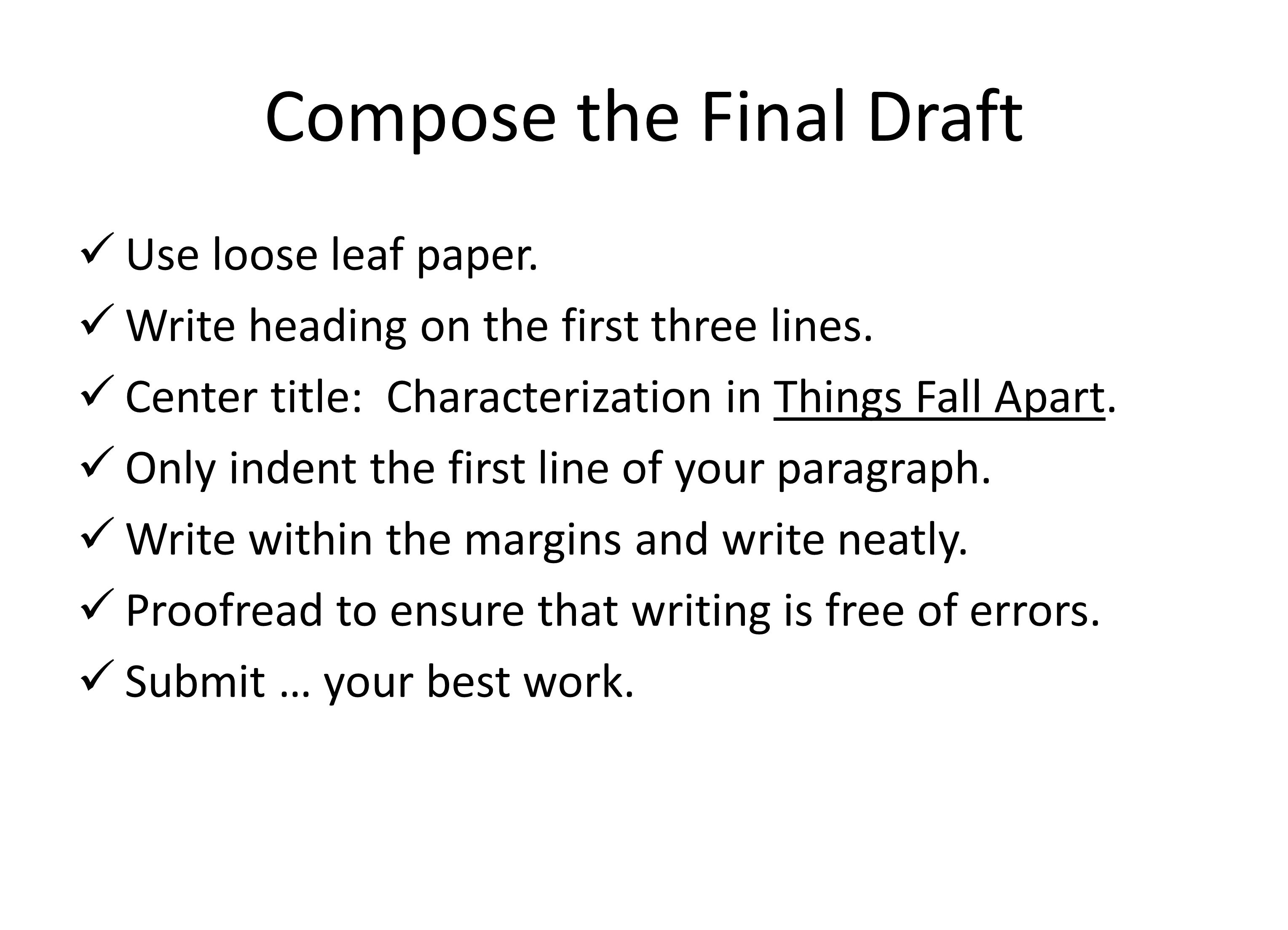 Compose the Final Draft