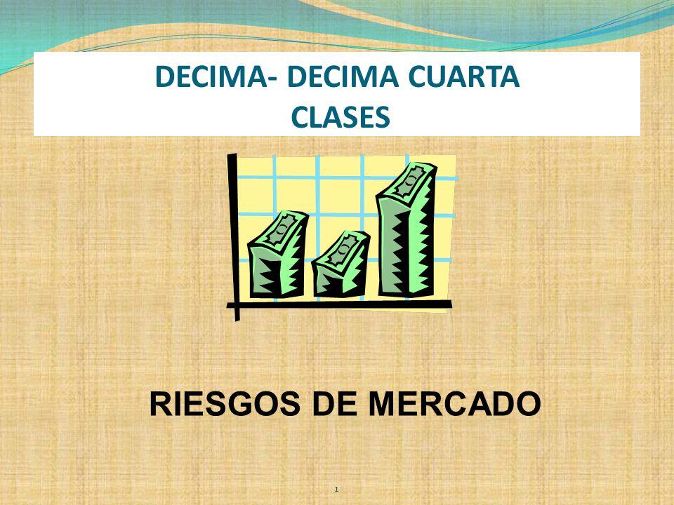 DECIMA- DECIMA CUARTA CLASES RIESGOS DE MERCADO