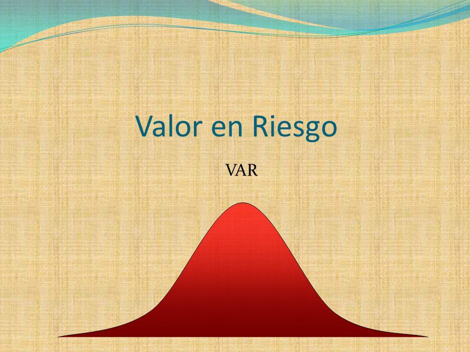 Valor en Riesgo VAR
