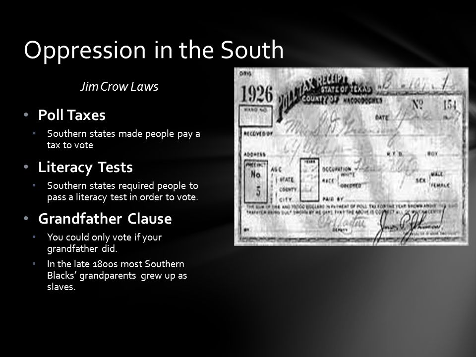 Oppression in the South