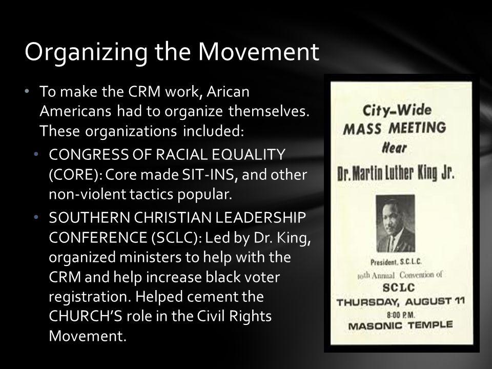 Organizing the Movement