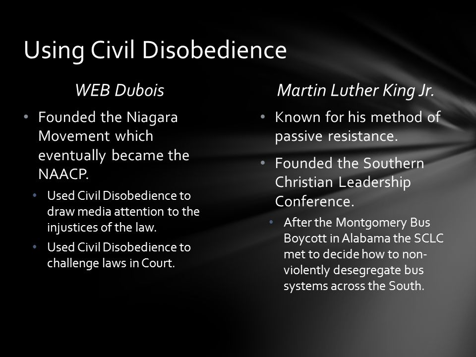 Using Civil Disobedience